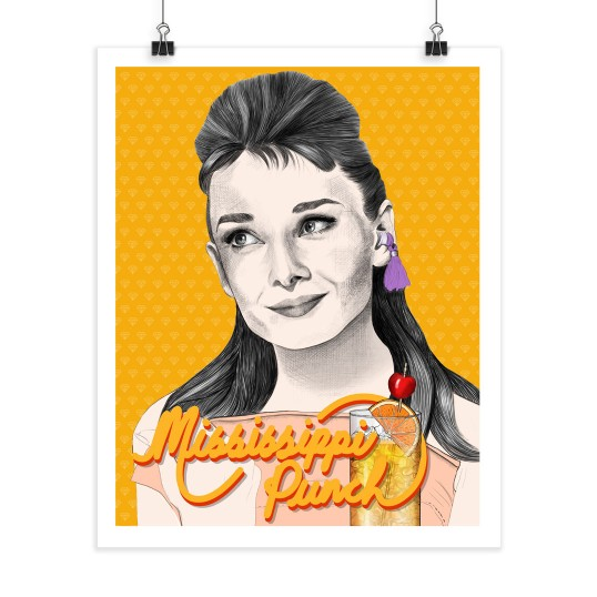 Mississippi Punch - Audrey Hepburn - Screenprint