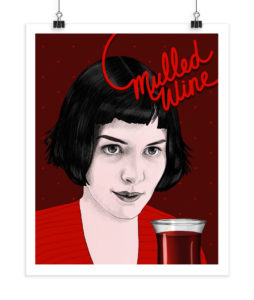 Mulled Wine - Audrey Tatou - Screenprint