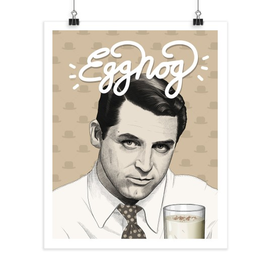Egg Nog - Cary Grant - Screenprint