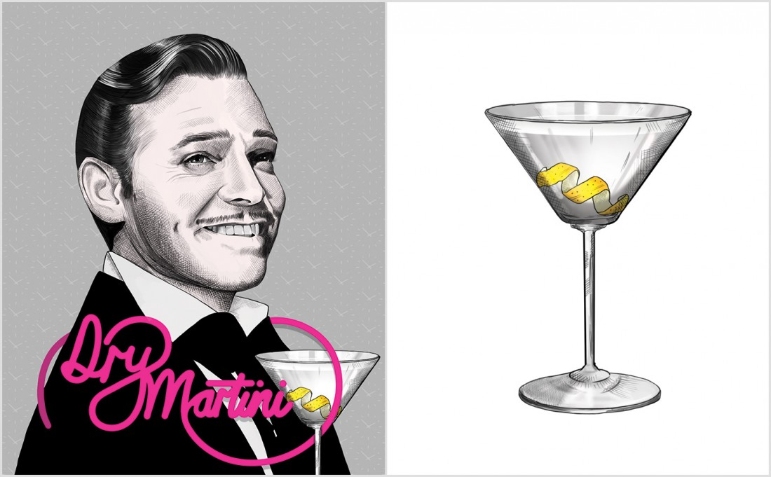 Dry Martini Recipe - Clark Gable