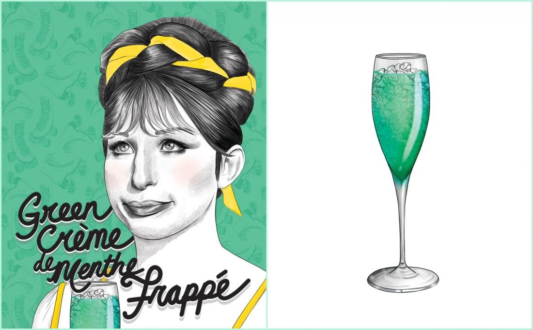 Green Crème De Menthe Frappé Recipe | Barbra Streisand | Funny Girl