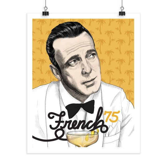 French 75 - Humphrey Bogart - Screenprint