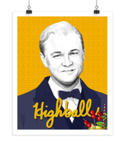 Leonardo DiCaprio - Highball - Screenprint