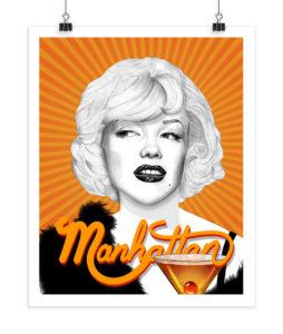 Marilyn Monroe - Manhattan - Screenprint
