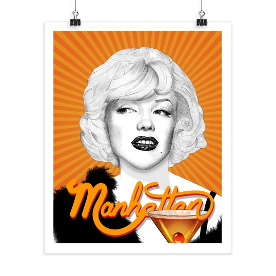 Marilyn Monroe - Manhattan - Screenprint