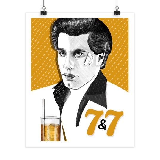 7&7 - John Travolta - Screenprint