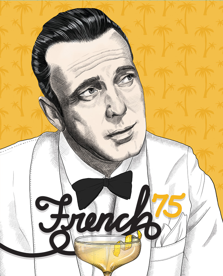 French 75 Recipe | Humphrey Bogart | Casablanca