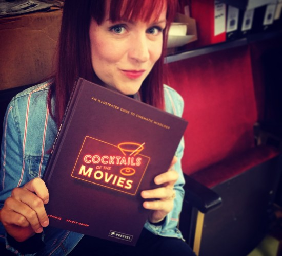 Cocktails of the Movies Book - First Edition Held by Illustrator Stacey Marsh