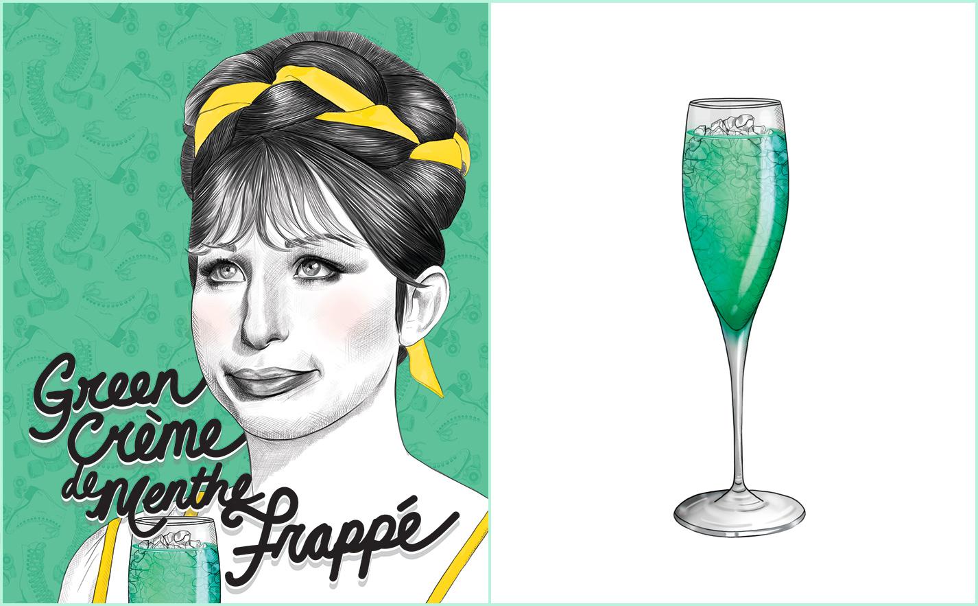 Green Crème De Menthe Frappé Recipe   Barbra Streisand   Funny Girl