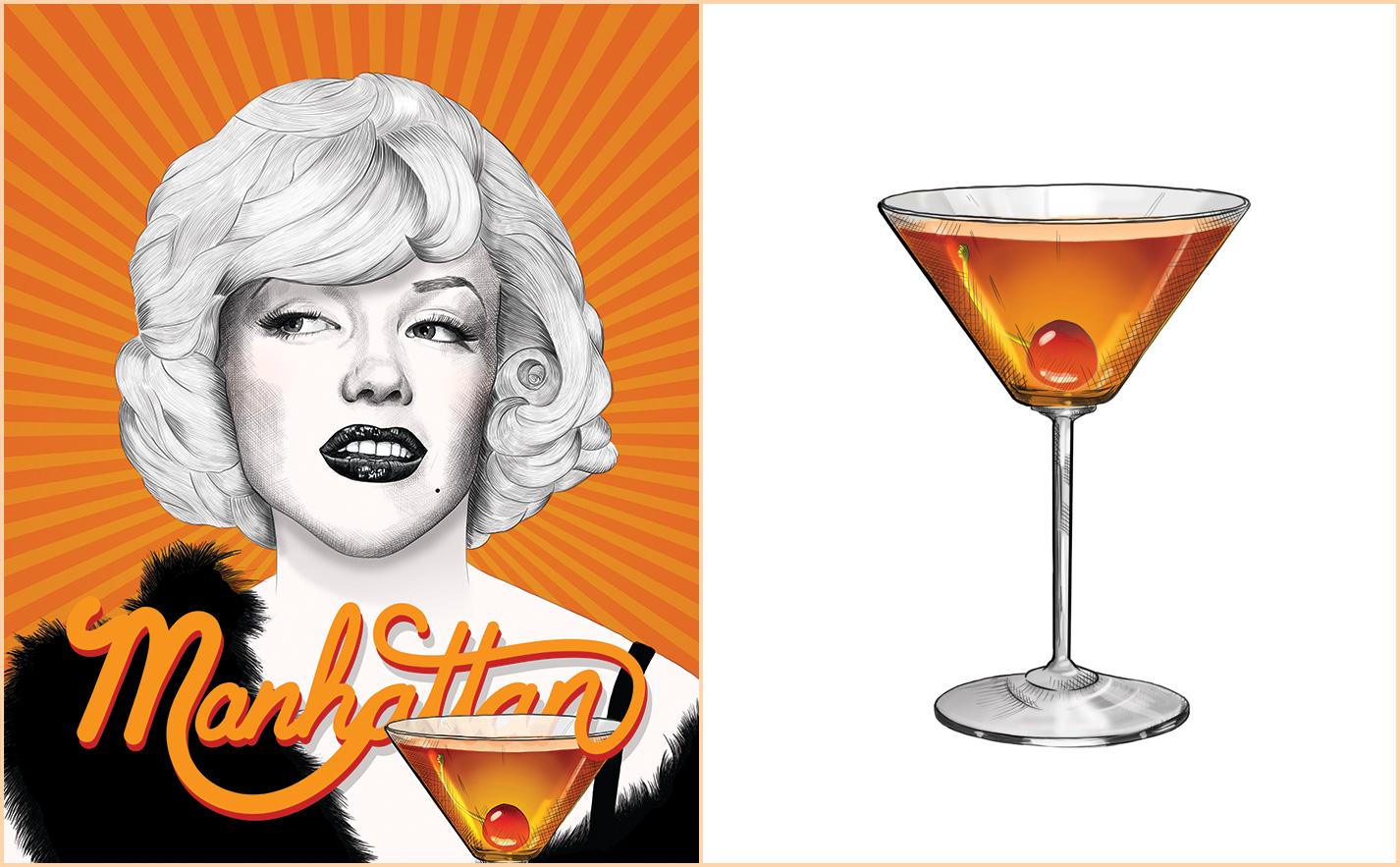 Manhattan Recipe - Marilyn Monroe - Some Like It Hot