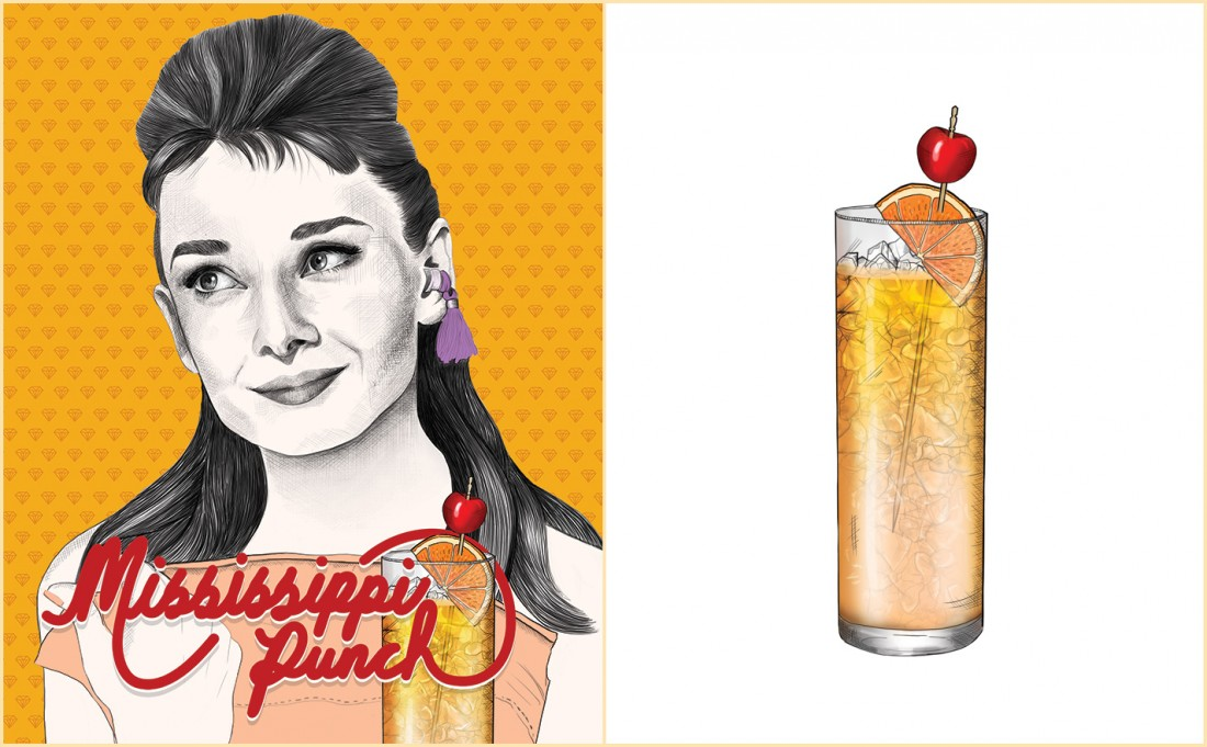 Mississippi Punch Recipe - Holly Golightly - Audrey Hepburn - Breakfast at Tiffany's
