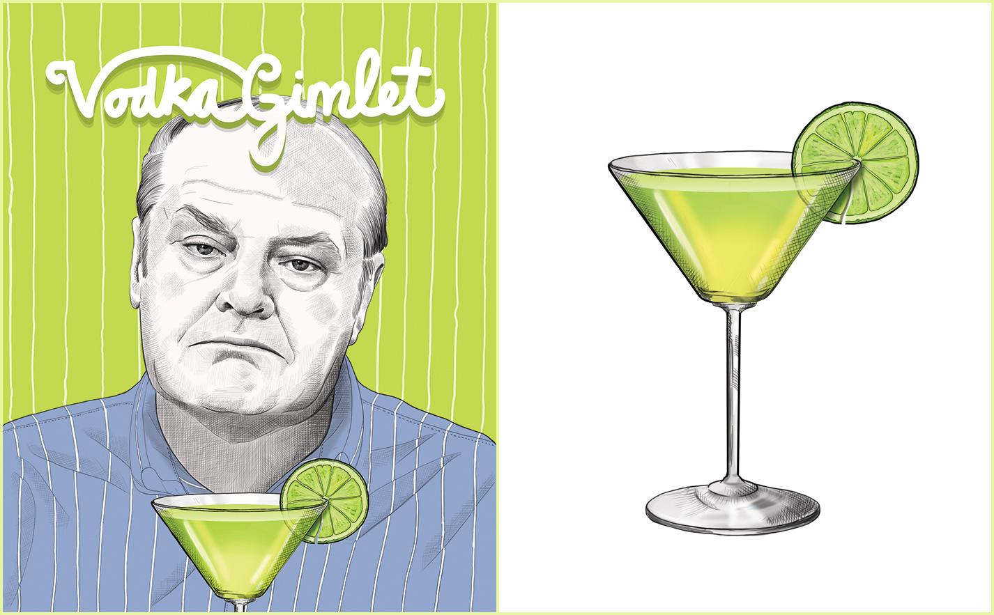 Vodka Gimlet Recipe - Jack Nicholson